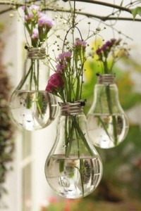 Free People's DIY Light Bulb Vases