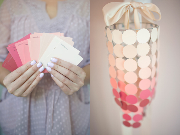DIY Paint Swatch Chandelier-Simple & Sweet