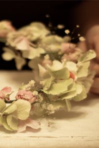 Bohemians Eat Your Heart Out!  Floral Garland Headpiece DIY!