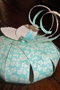 Simply Adorable DIY Paper Pumpkins by Lively Ink