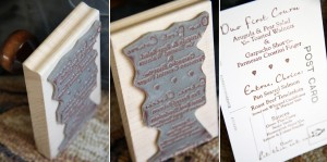 Poole Hardy Wedding Skinner Barn Vermont Menu Stamp