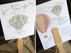 Poole Hardy Wedding Skinner Barn Vermont Ceremony Program Fan 2