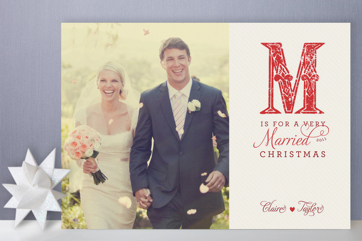 Combining Wedding Thank You Cards With Holiday Cards http://www.storyboardwedding.com/combining-thank-yous-holiday-cards/