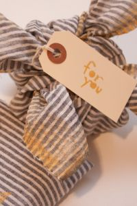 Taking The Old & Making It New- DIY Fabric Gift Wrap By The Sweete...