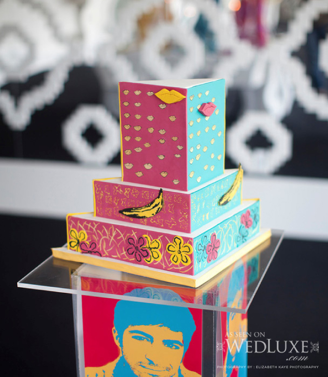 An Andy Warhol Inspired Styled Shoot on WedLuxe