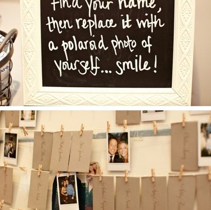 Reverse Polaroid Escort Cards