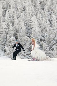 Stowe Mountain Magic In The Winter 2 Gown Wedding Complete With Cape &...