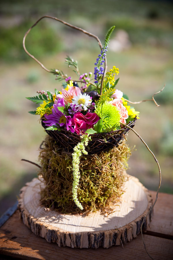 Mammoth Lake Rustic Camp Wedding In Fuchsia & Turquoise | Photograph by David Champagne Photography