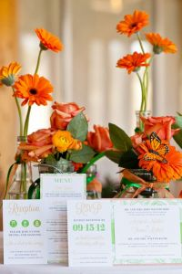 Soft Sweet Orange & Luscious Greens Inspire This Laid Back Styled ...