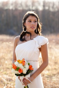 Orange and Green Styled Bridal Inspiration Shoot Candace Jeffery Photography