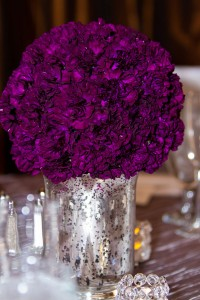 Vintage Glam At The Height of The Las Vegas Strip Clad In Deep Purples & Soft Greys