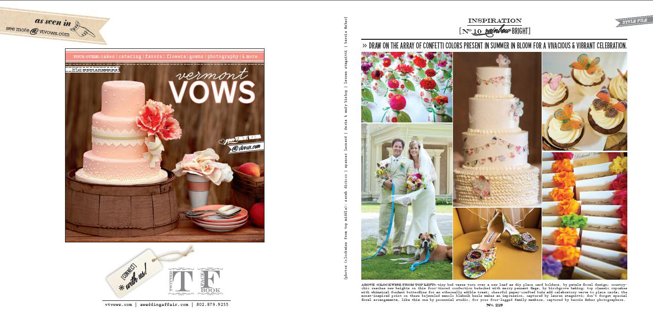 Our Wedding Cake Gets Its Moment, VT Vows Feature