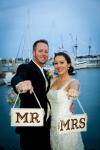 Sweet Southern Maritime Wedding Complete With Brooch Bouquet, Trolley ...
