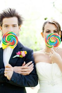How Sweet It Is Indeed!  A Styled Candy Themed Wedding Gives Wonka A R...