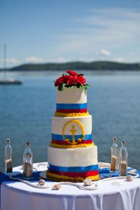 A Lake Michigan Inspired Seaside Wedding Day With Netting As The Tying...