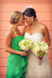 Peacock Inspired Jewel Tone Colored Intimate New Orleans Wedding