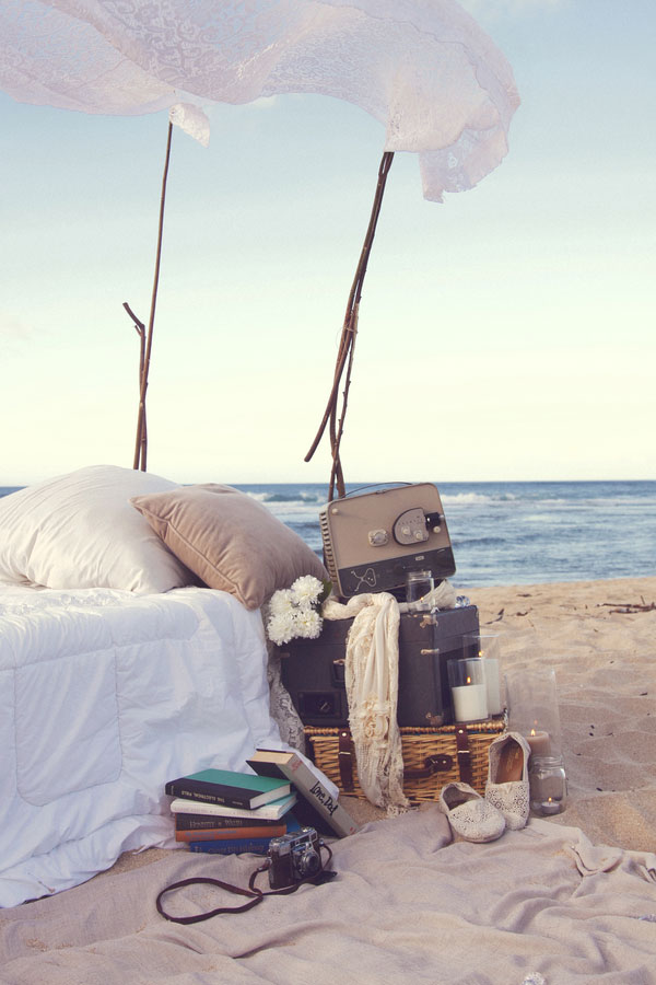 Inspired Dream Worthy Beach Bedroom Engagement Session On Soft Hawaiian Sands