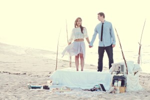 Tiffany and Kim Bedroom on the Beach Engagement Photos What a Day! Photography