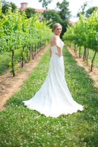 An Understated Bridal Portrait Session at Childress Vineyards In Lexington North Carolina
