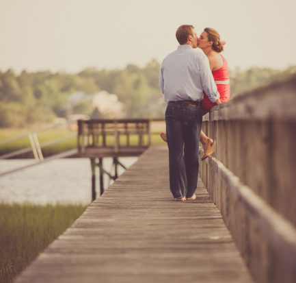 Ashley & Alex Dock Engagement Session Diana Deaver Weddings