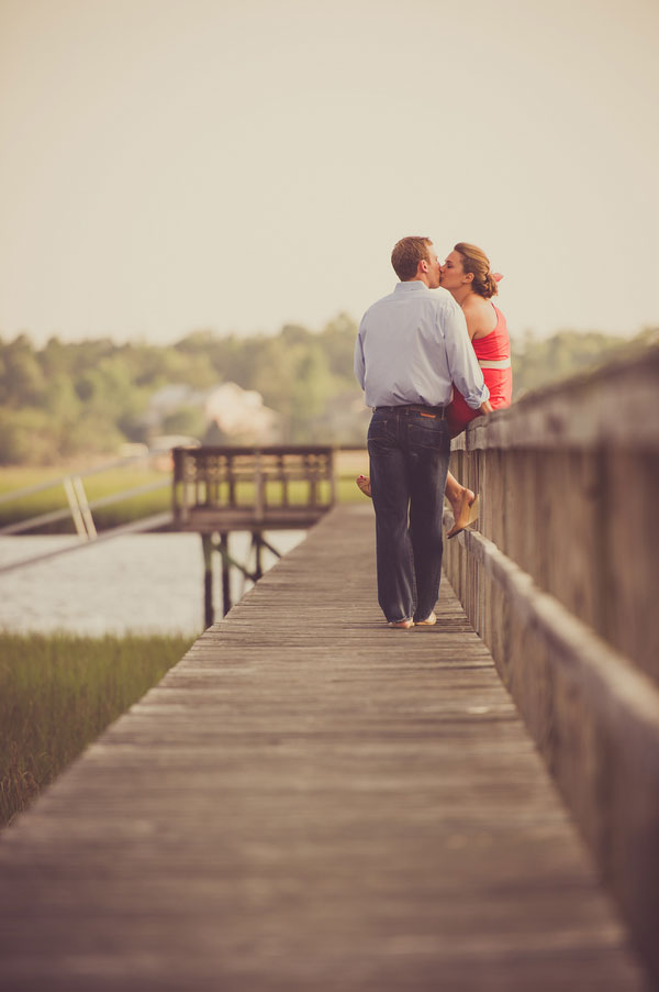 Low-Country Marsh Love In A Dock Setting Engagement Session