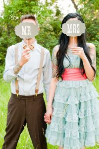 An Eccentric Vintage Wedding With A Retro 50s Carnival Feel In Fort Co...