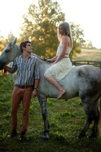 An Early Morning Dream Engagement Session Filled With Ponies, Cool Wat...