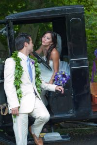 Rustic Touches & A 1924 Ford Model-T Make This Purple Infused Hawa...