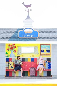 Asbury Park Sets The Tone For This Playful Summer Time Engagement Sess...