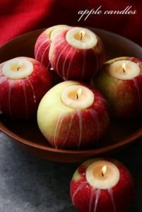 Apples With Tea Lights