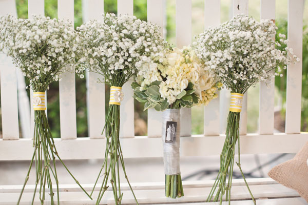 Diy Wedding Delight With Bright Yellow Chevron Table Runners In This Gorgeous Oklahoma Photograph