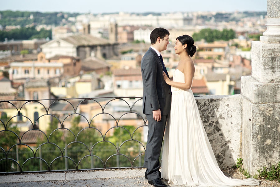 Rome Sets The Stage For This Intimate Italian Wedding Portrait Session Filled of Rowboats, Rickshaws, & Love
