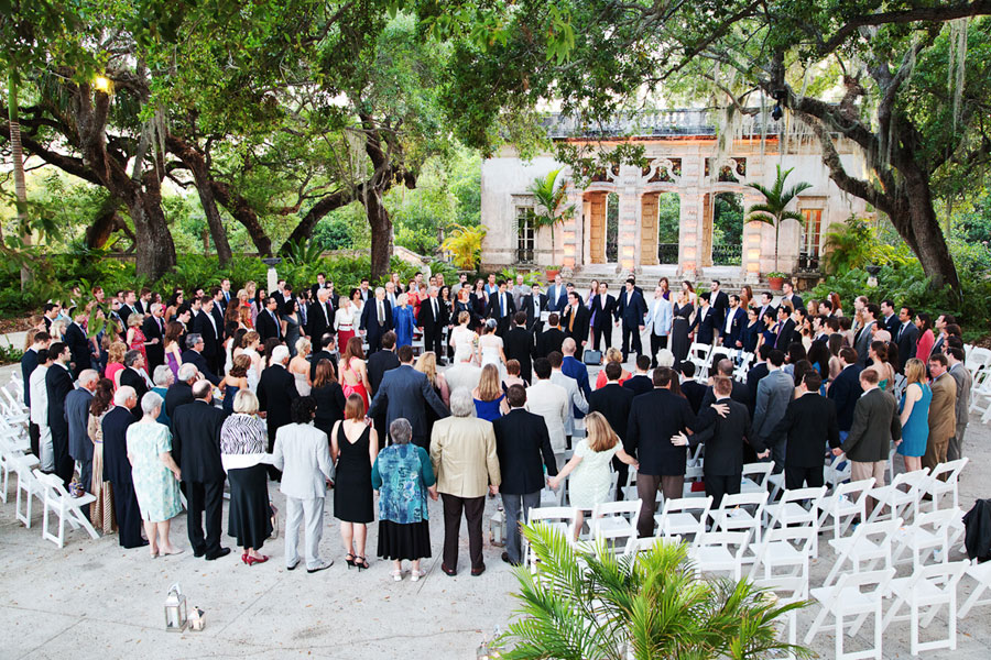 Old Hollywood Glam Meets Moments of Joyous Laughter At This Vizcaya Museum and Gardens Wedding In Miami | Photograph by Adagion Studio