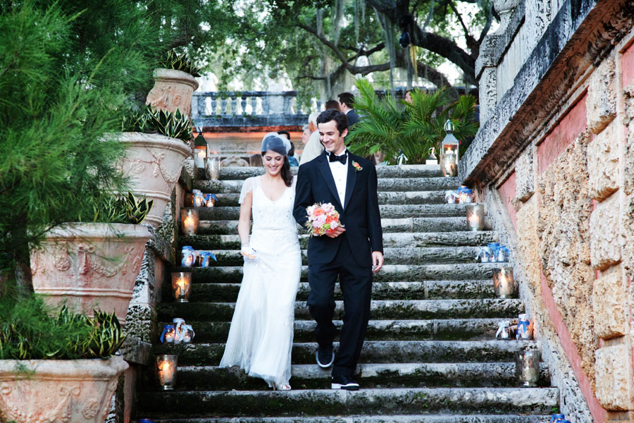 Old Hollywood Glam Meets Moments of Joyous Laughter At This Vizcaya Museum and Gardens Wedding In Miami