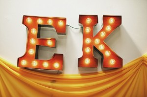 DIY Carnival Marquee Letters Ruffled Blog