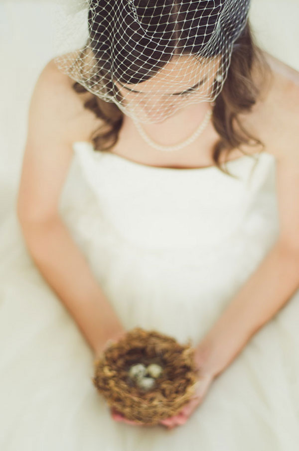 Vintage Birdie Inspired Bridal Portraits With A Beautiful Bride In A Full Tulle Skirt Wedding Gown | Photograph by Anne Brookshire Photography