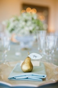 Golden Pear Escort Card