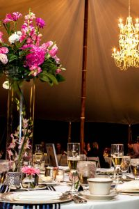 Dreamy Day Come Night Wedding At The Brantwyn Estate In Strong Pinks &...
