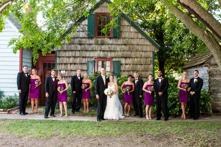 Rehoboth Beach Country Club Wedding In Strong Purples Bright