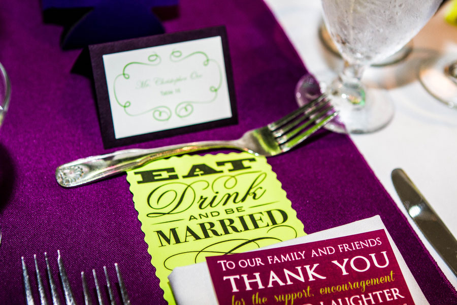 Rehoboth Beach Country Club Wedding In Strong Purples & Bright Greens Kissed By Mother Nature