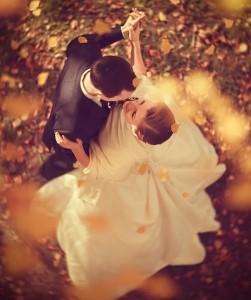 Married Couple Dancing Among The Foliage