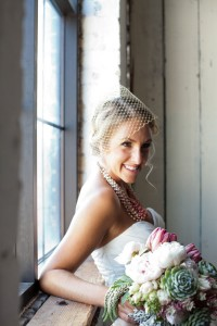 Contemporary Fresh Faced Bride With Gold Blusher Veil | Photograph by Bernadette at Dette Snaps  http://storyboardwedding.com/contemporary-fresh-faced-bride-makes-a-statement-in-a-gold-blusher-veil/