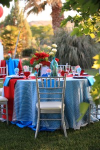New Modern Take On Red White & Blue Wedding With Snowcone Highlights