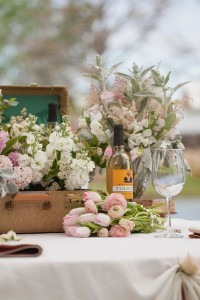 Soft Romantic Vintage Inspired Winery Wedding With A Blush Color Palet...