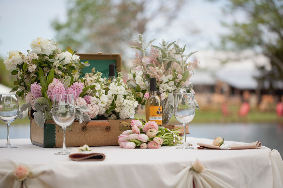Soft Romantic Vintage Inspired Winery Wedding With A Blush Color Palette & Organic Feel | Photograph by Sarah Crowder Photography