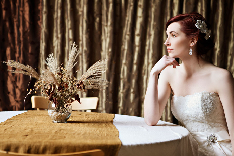 Wistful Rustic Chic Inspiration Shoot With Touches of Lace, Feathers & Snow | Photograph by Courtney Bowlden Photography  https://storyboardwedding.com/wistful-rustic-chic-inspiration-shoot-with-touches-of-lace-feathers-snow/