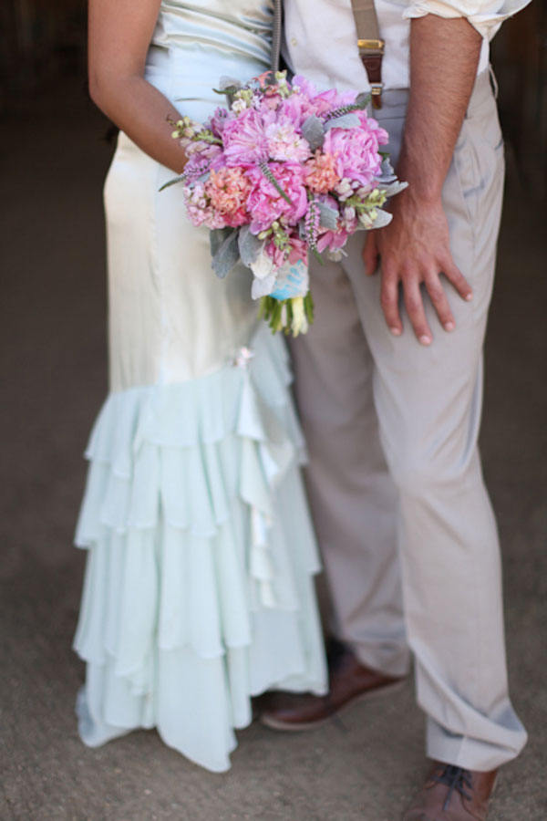 Rustic Vintage Glamour Styled Country Wedding Featuring Soft Pinks, Sweet Grays & Spots of Sparkle | Photograph by Lucy Munoz Photography