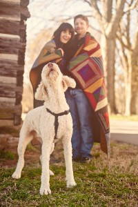 Nashville Sevier Park Cozy Winter Engagement Photos With One Cute Pup!