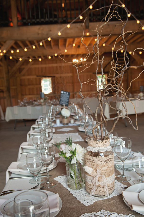 Rustic DIY Dream Wedding Featuring Burlap & Lace In British