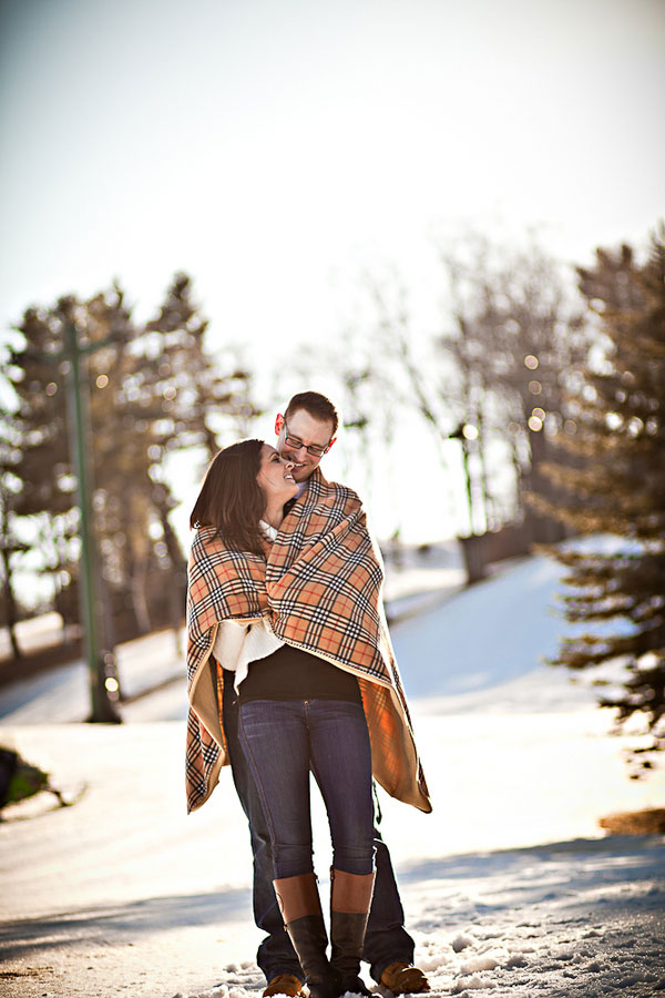 Warm Cups of Hot Chocolate, Fresh Snow & The Perfect Winter Day Engagement Session | Photograph by Scott Kretschmann Photography